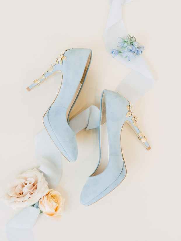 pastel blue wedding shoes