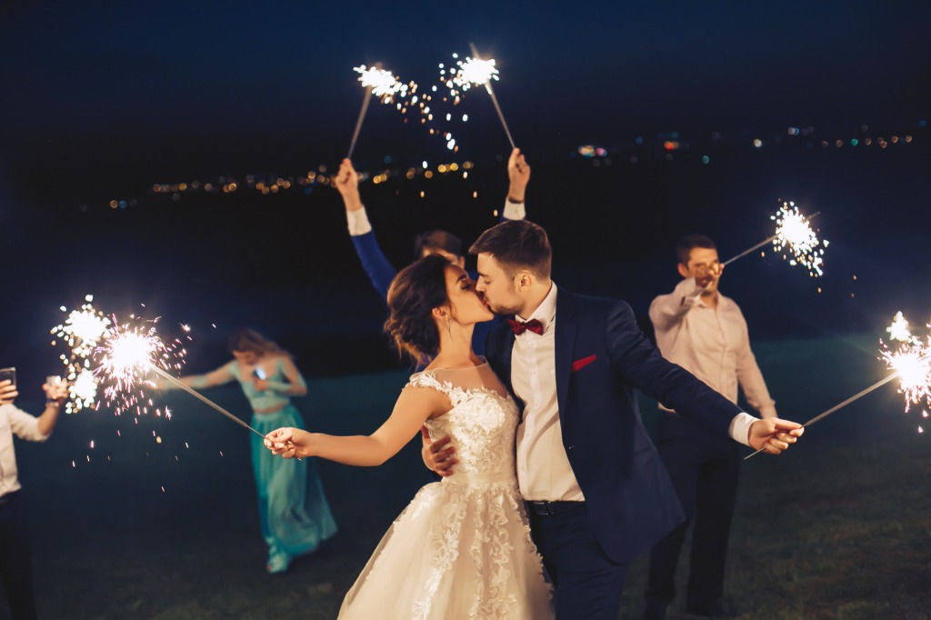 Spice up Your Florida Beach Wedding with Sparklers!
