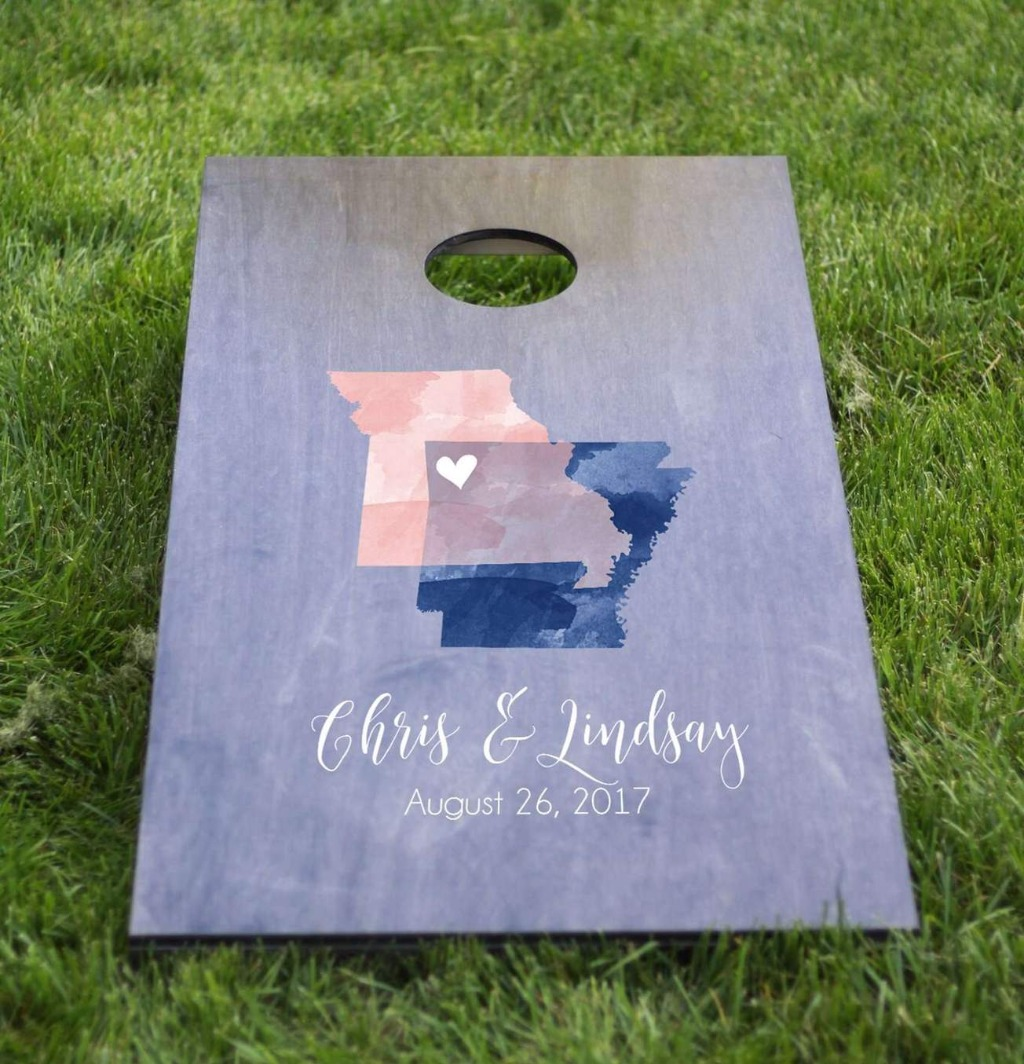 If you are having an outdoor wedding, then you NEED to have a custom cornhole set. Not only will this be a huge crowd pleaser, but