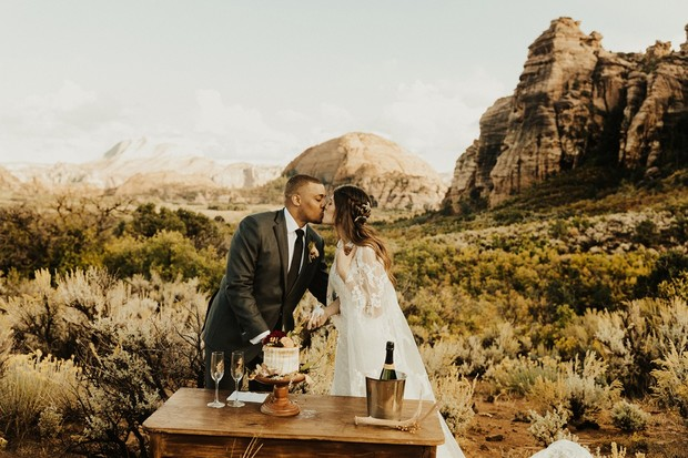 outdoor elopement at Zion National Park