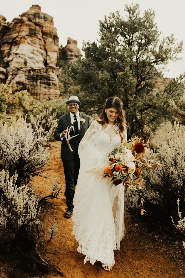 fun elopement at Zion National park