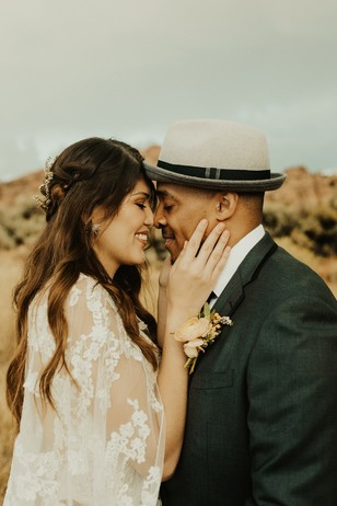 romantic desert elopement at Zion National Park