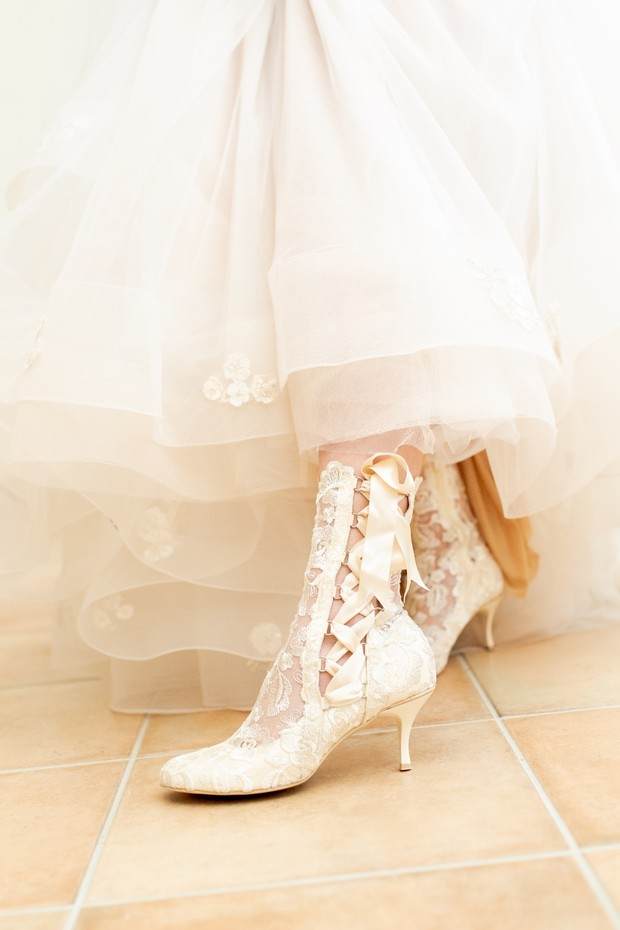 lace wedding boots