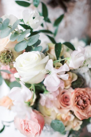 soft pink and blush wedding flowers