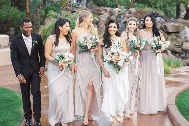 sweet and formal bridal party