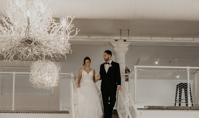 Rainy Day White And Copper Modern Chic Wedding Ideas