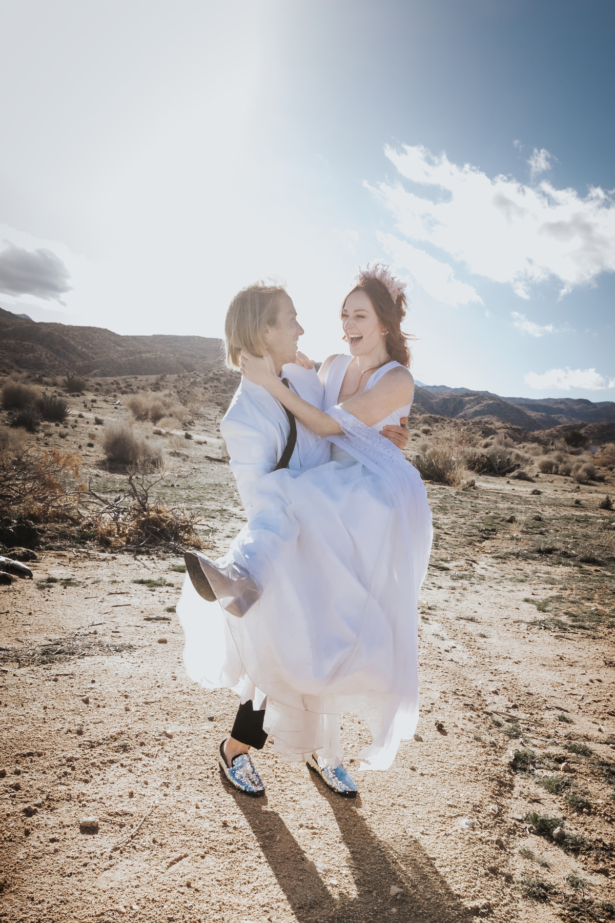 fun wedding style at Joshua Tree