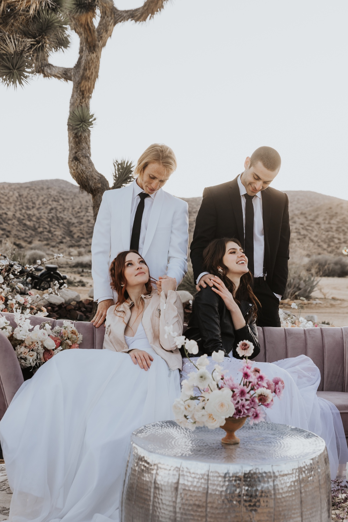 glam boho desert wedding ideas