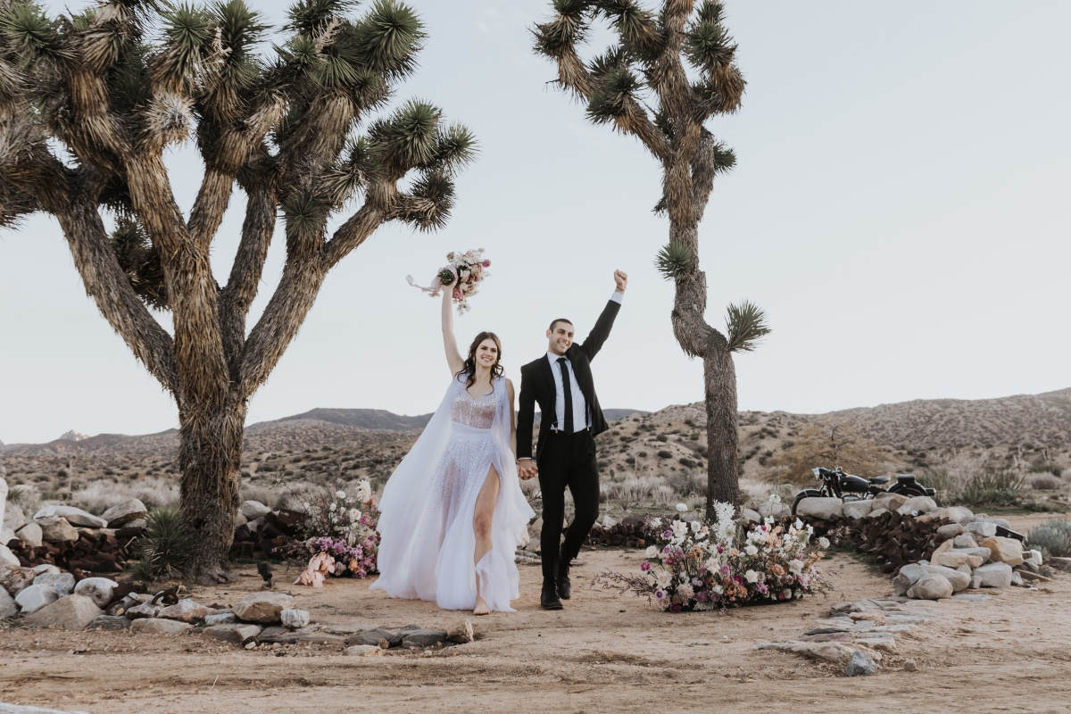 modern wedding ideas at Joshua Tree