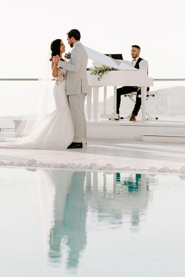Glamorous White Rose Wedding In Greece