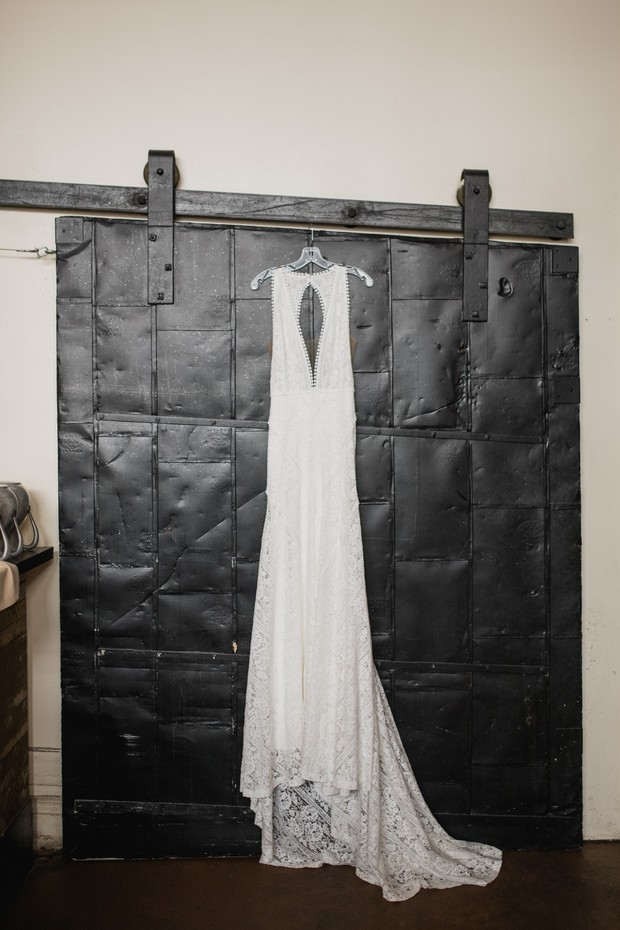 key hole wedding dress