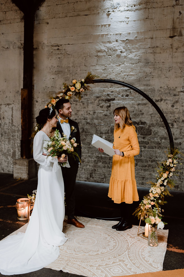 industrial vintage wedding idea