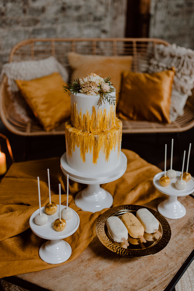 yellow wedding desserts