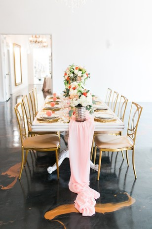 soft pink and gold table decor