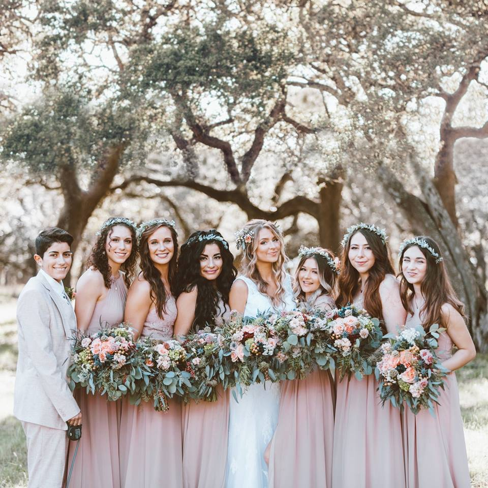 Dusty Rose Bridesmaid Dresses!