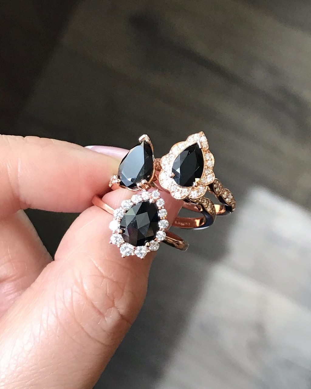 Whether you like vintage or modern inspiration, solitaire or halo style, rose cut or brilliant cut black diamond, or even black spinel