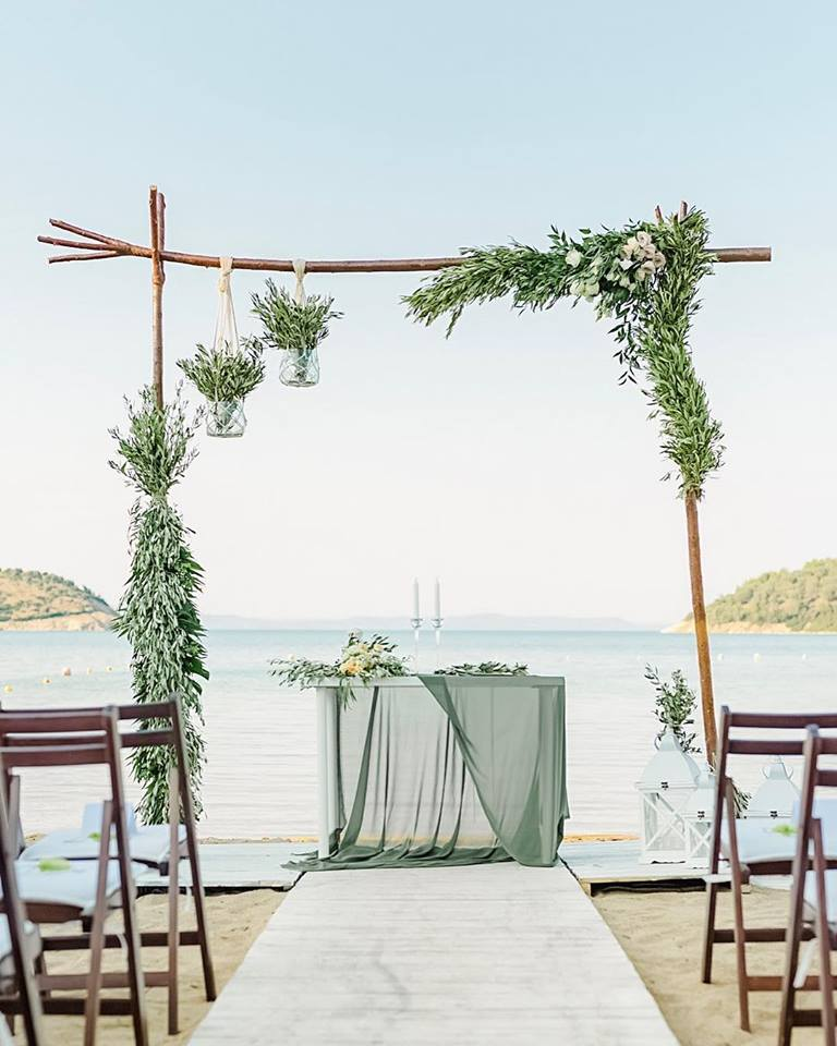Dream wedding ceremony in Greece. Designed and coordinated by Soo Events.
