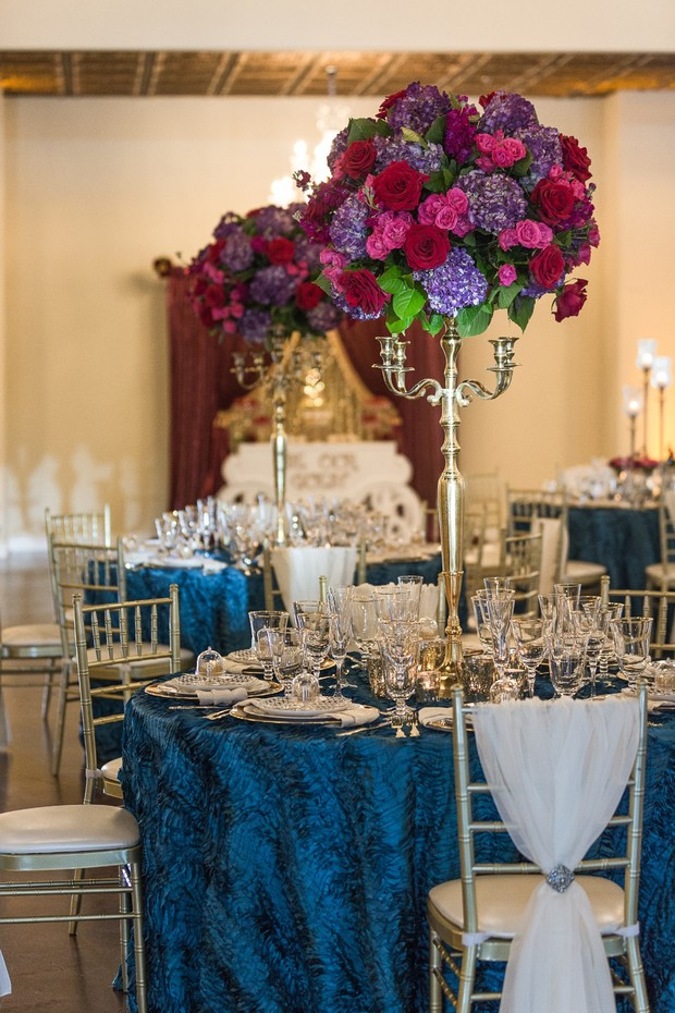beauty and the beast themed wedding reception