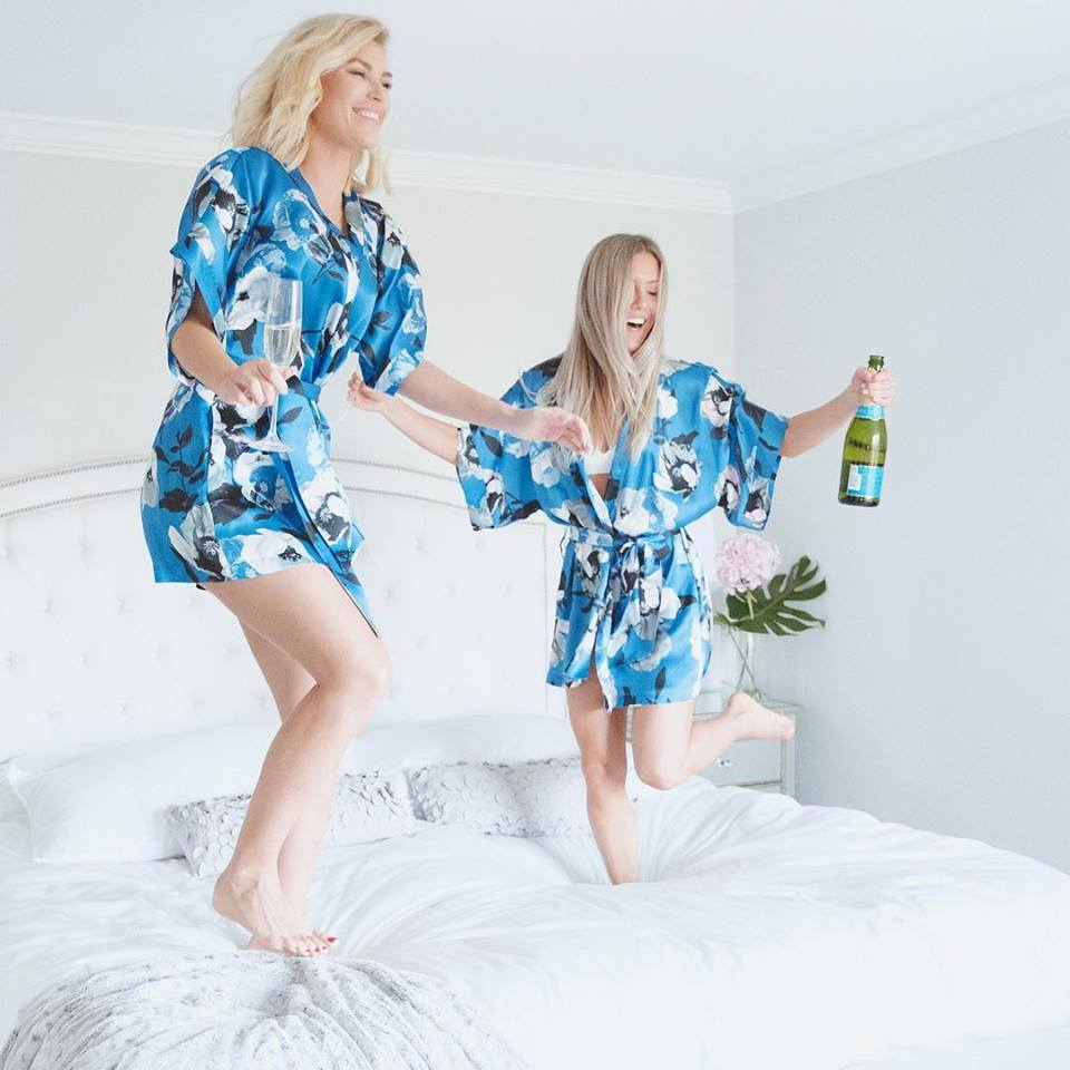 These silk robes are SO SOFT. See all the prints and colors here.