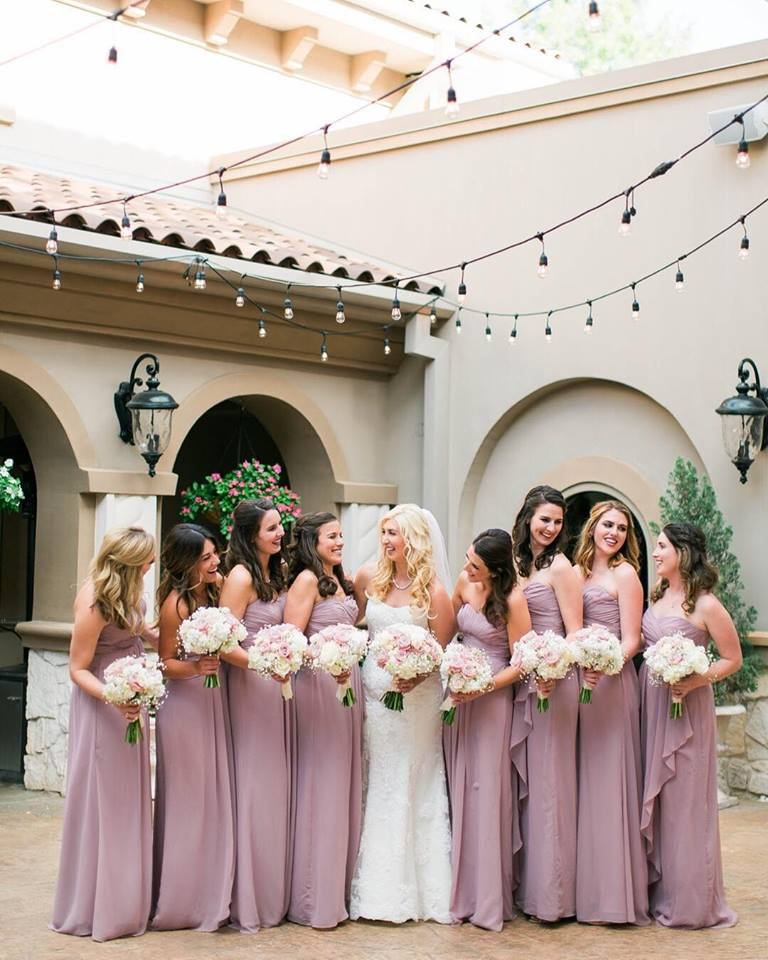 Gorg shot of the bride and her girls! From Michele Shore Photography