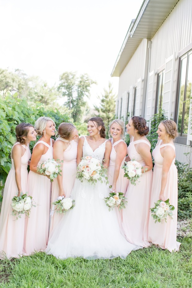 soft blush bridesmaids
