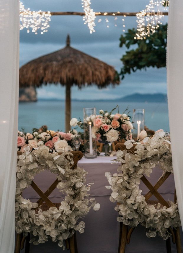 floral wedding seat decor