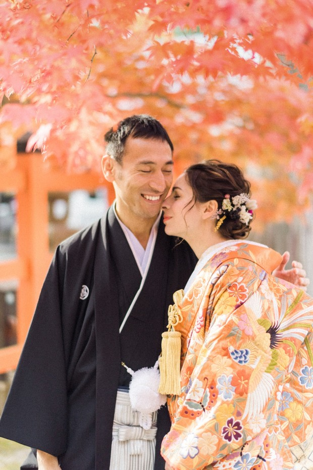 Wedding couple in Japan