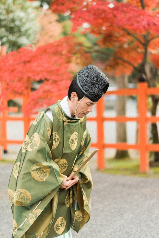 Shinto temple wedding in Japan