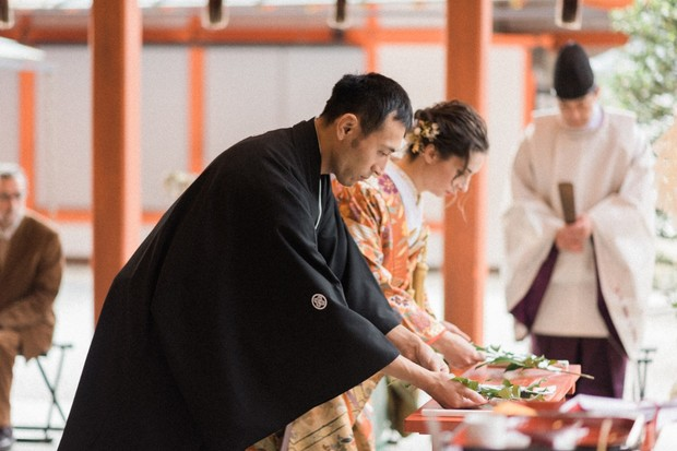 Shinto wedding ceremony in Japan