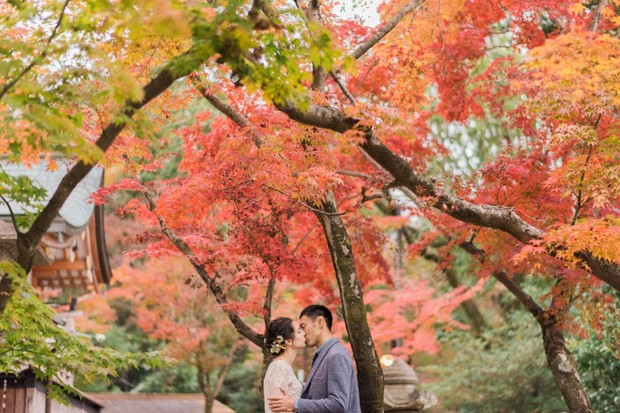 Fall wedding in Japan
