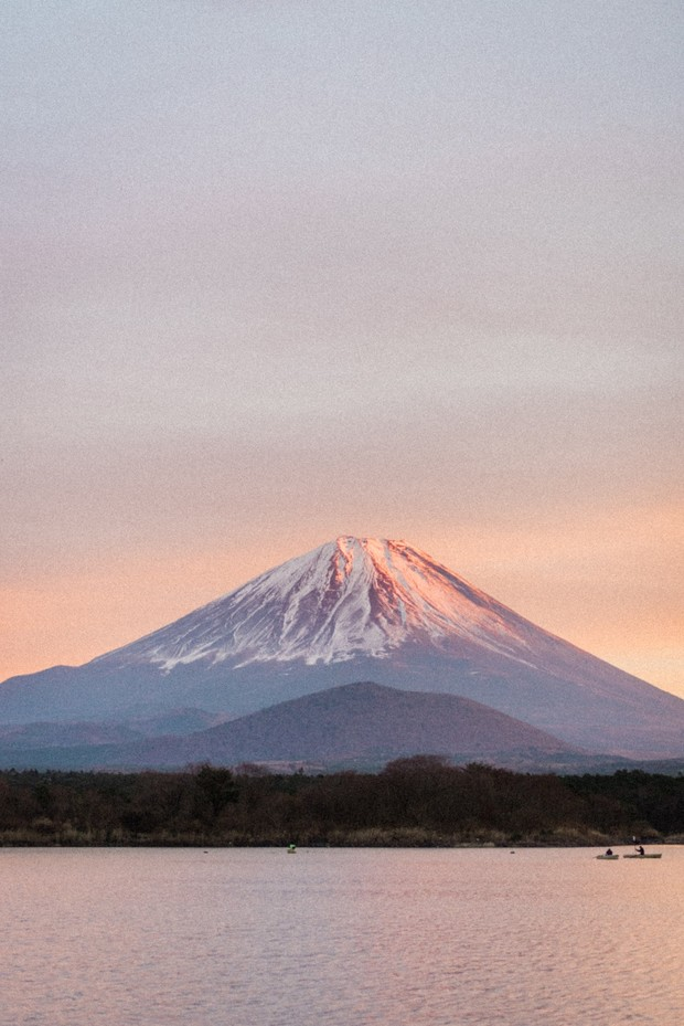 sunset on Mount Fuji