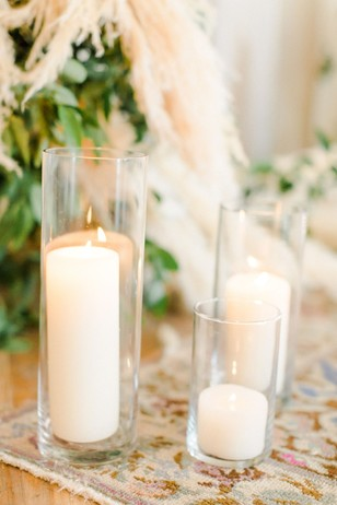 hurricane glass candle decor