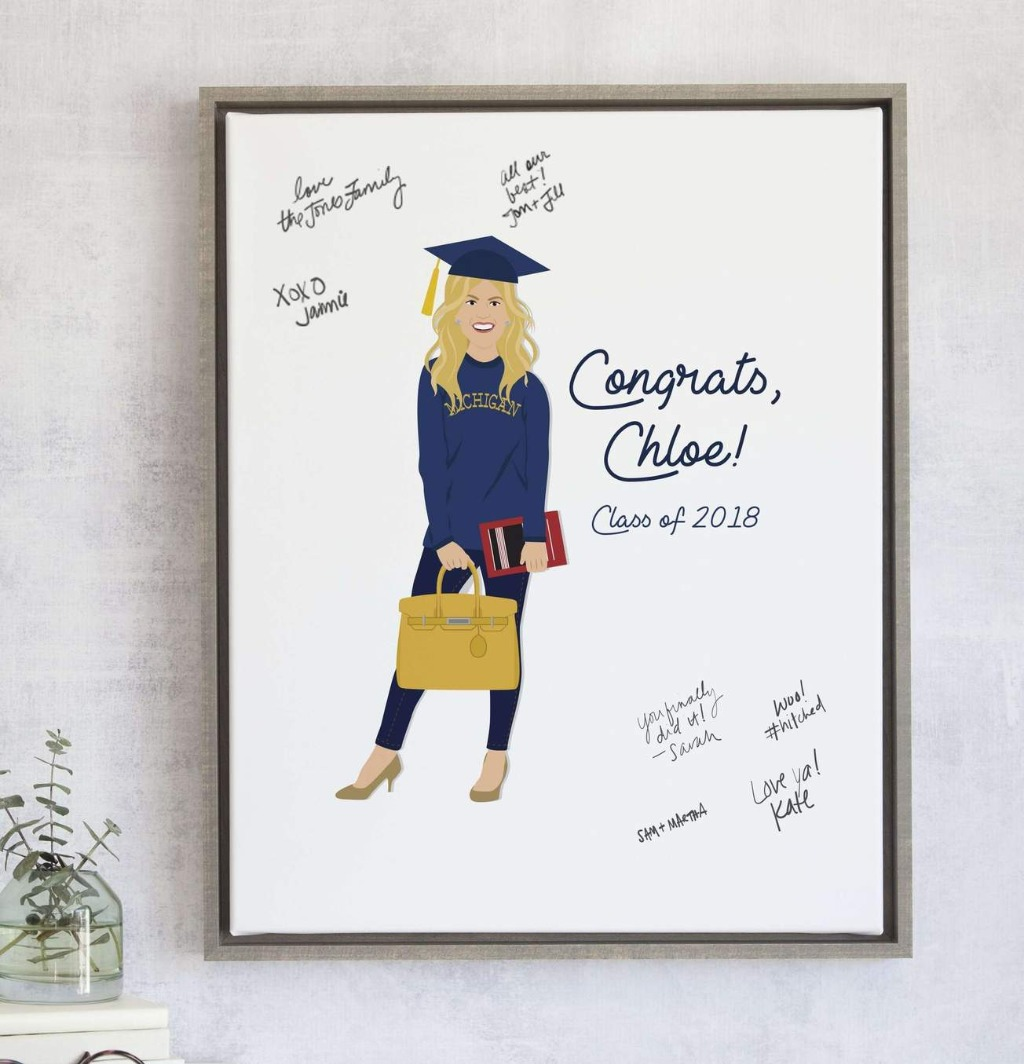 This fun graduation party guest book alternative is the perfect way to capture the love and warm wishes of everyone at your graduation