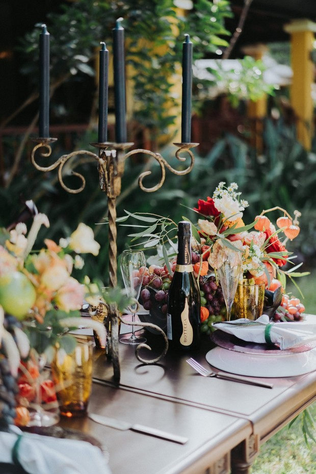 styled wedding reception table