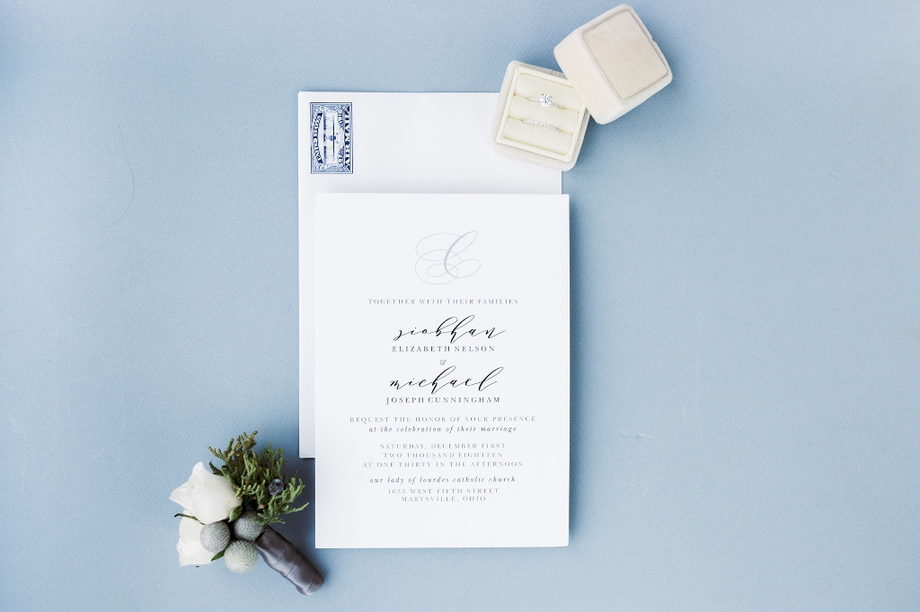 Our Charmed Monogram Wedding Invitation Suite will be sure to charm your guests with its elegance and simplicity.
