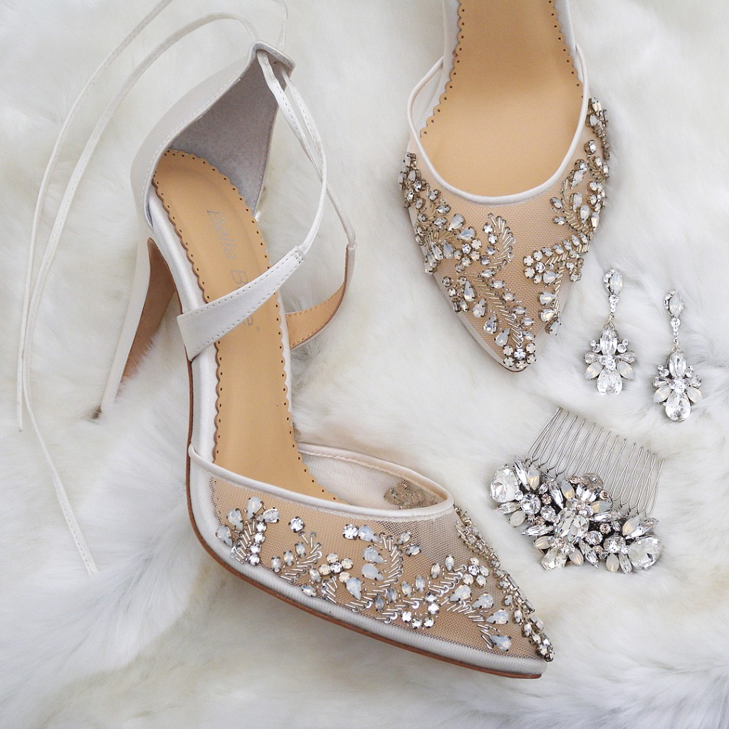 What's better than walking down the aisle in Bella Belle Shoes? Also wearing Haute Bride Jewelry & Accessories. Everything you
