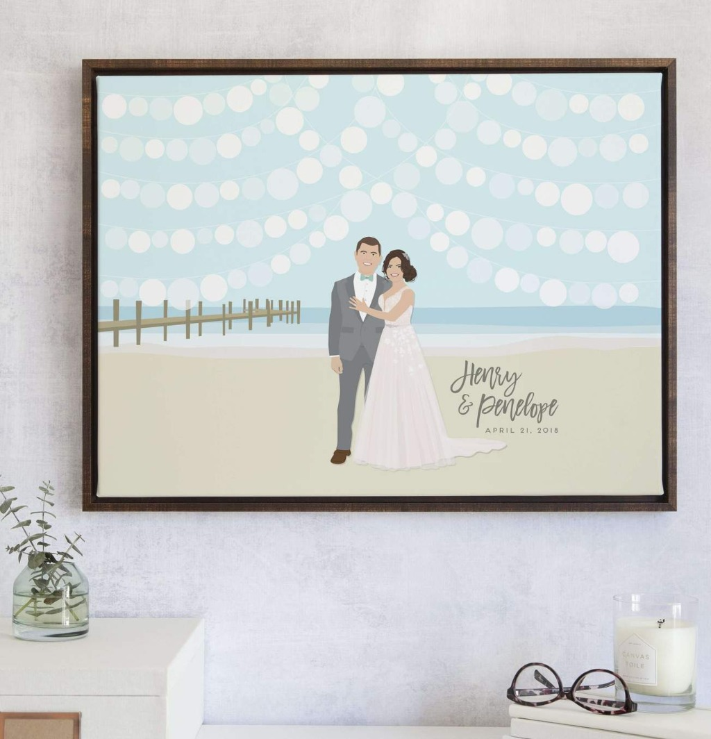 If you are planning a beachside wedding, this guest book alternative is the perfect way to commemorate your wedding day!
