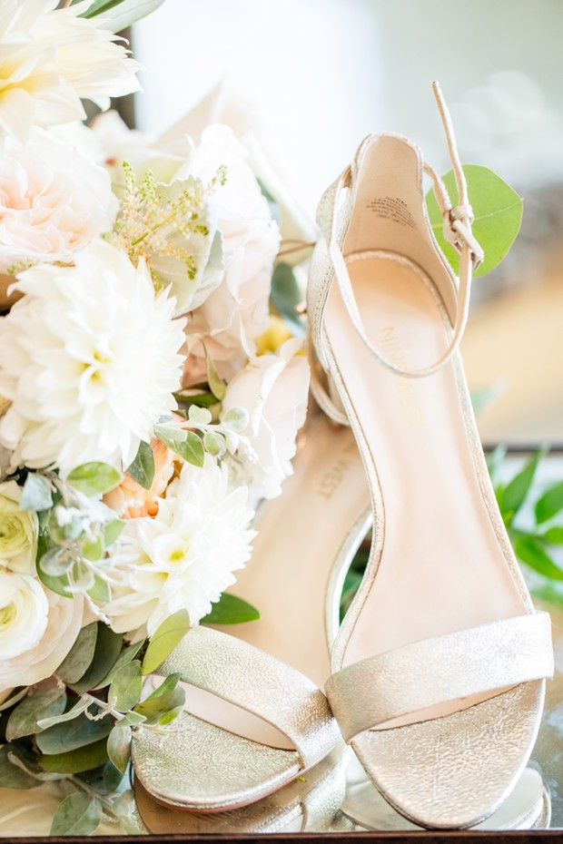 gold metallic wedding heels