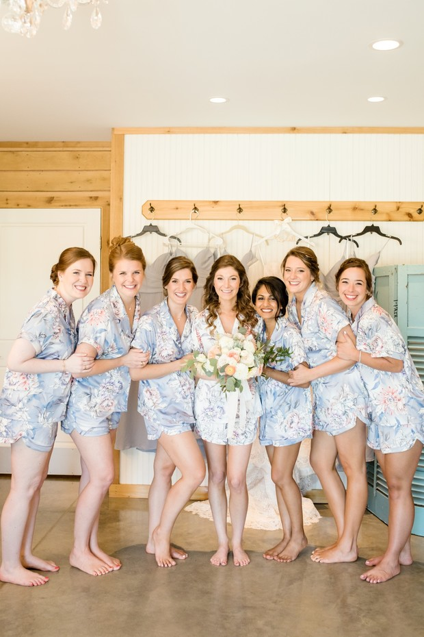 bridesmaids matching pjs