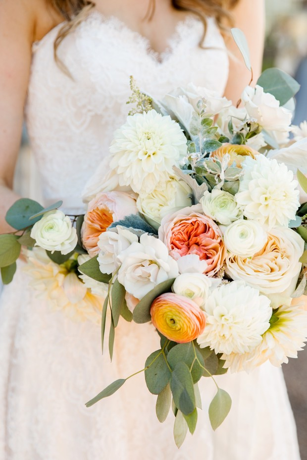 summer blooms wedding bouquet
