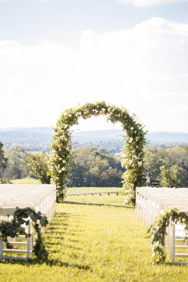 ceremony arbor backdrop