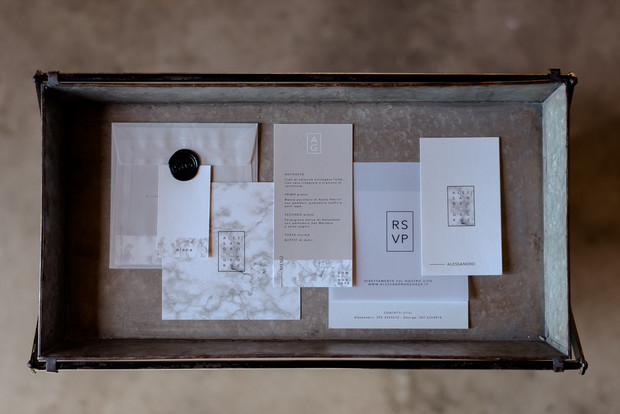 modern invitation suite
