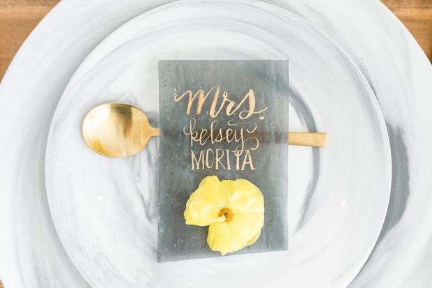 wedding place card design