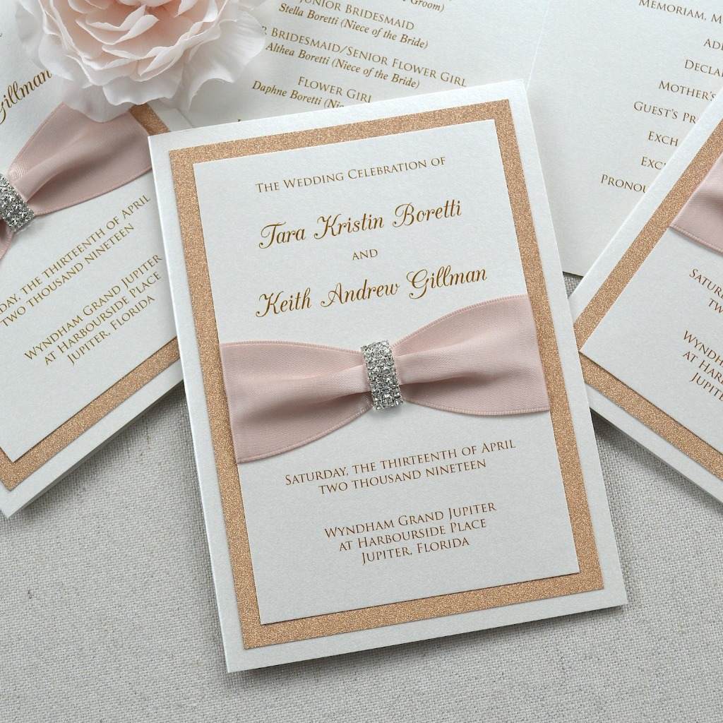 A wedding program doesn't have to be just an outline of what's happening. It's also a great way to inform guests of some little things