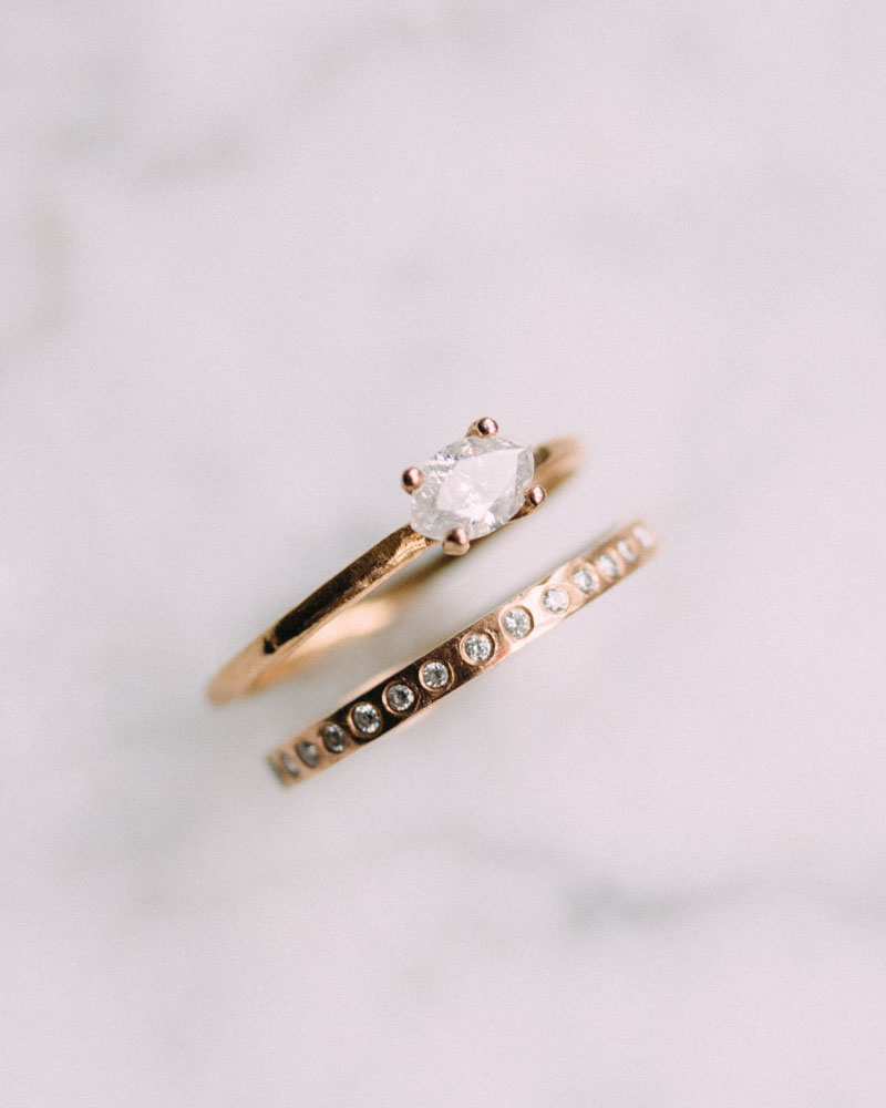 Check out Vena's collection of handcrafted wedding bands.
