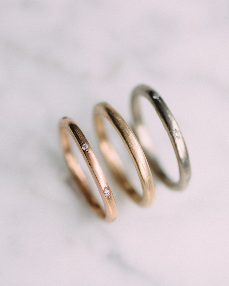 Looking for the perfect band. Check out Vena's handcrafted wedding bands.