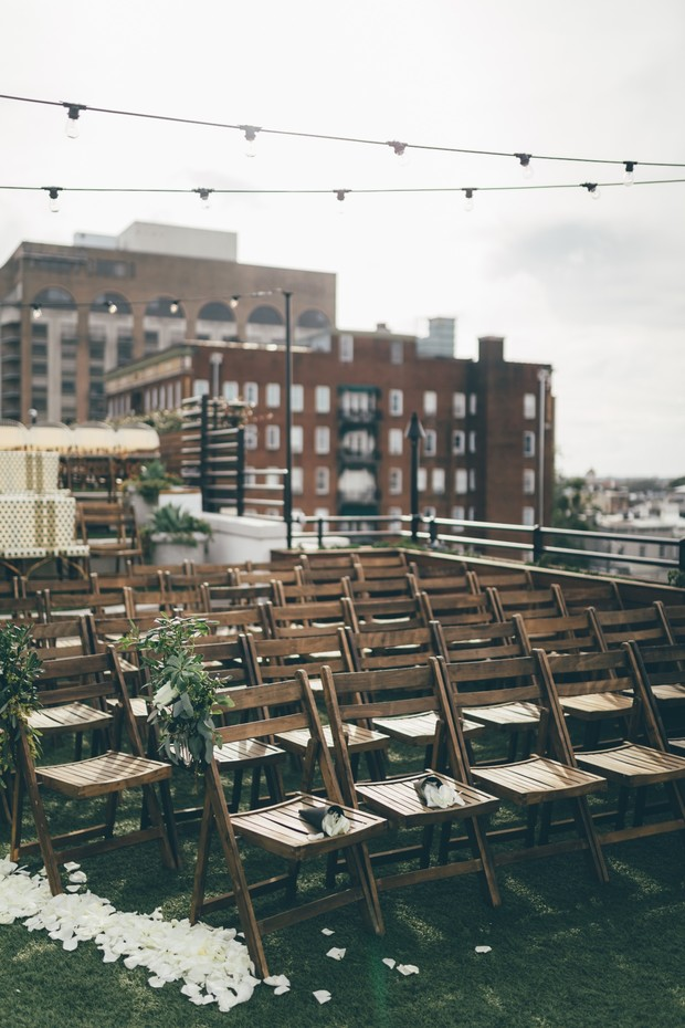 rooftop ceremony chairs