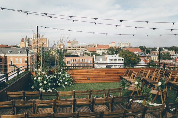 A Rooftop Wedding in Savannah to Ring in The New Year