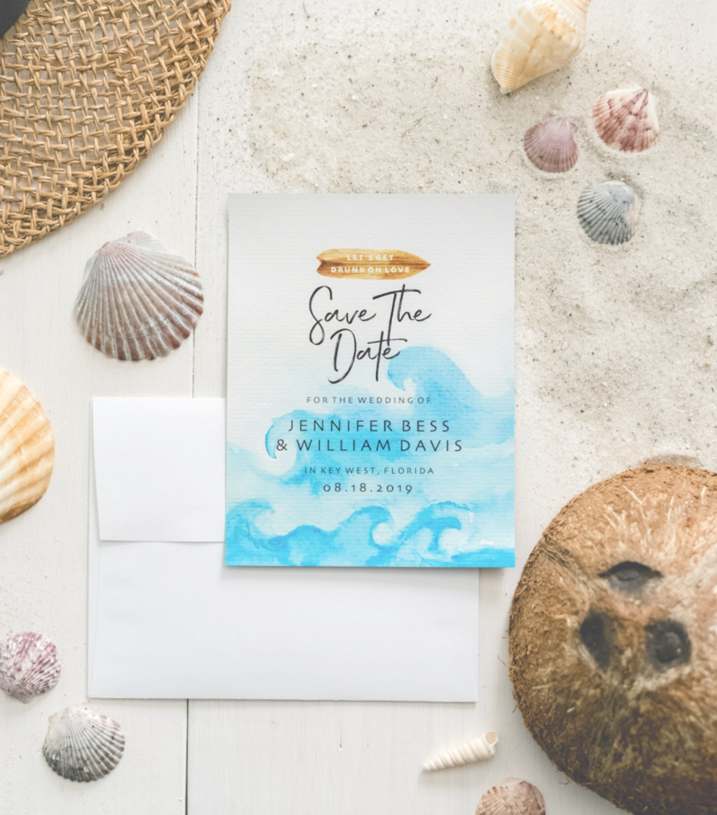 Planning a destination wedding and a creative streak? Our Upload Your Own Save the Dates may be perfect for you! Your options are endless
