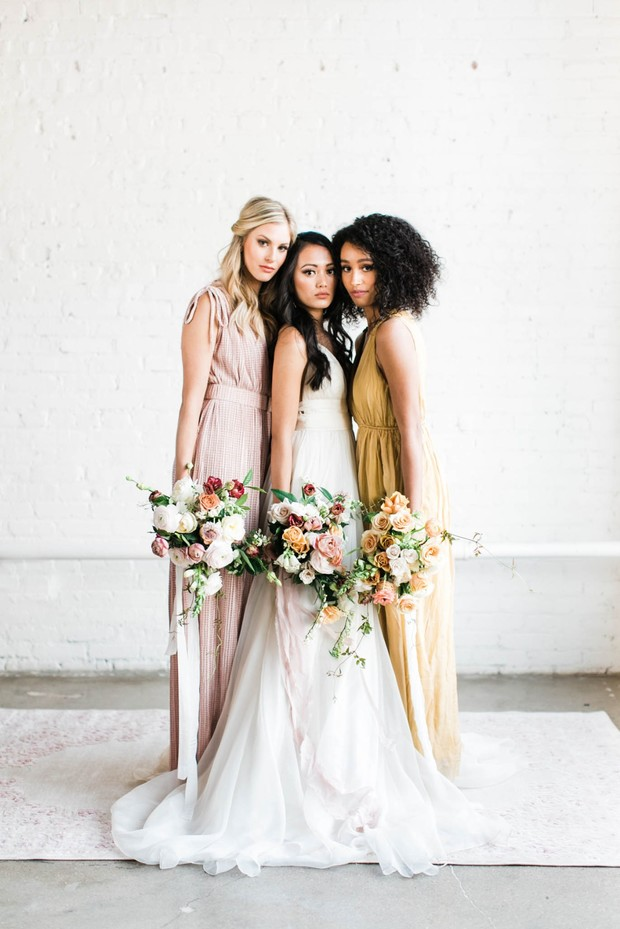 soft spring colors for bridesmaids